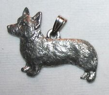 Pembroke Welsh CORGI Dog Harris Fine Pewter Pendant USA Made