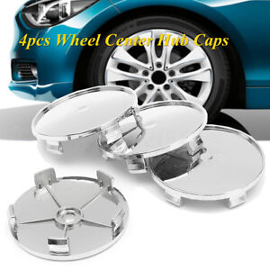 4x 69mm / 65mm Chrome ABS Car Auto Alloy Rims Wheel Center Hub Caps No Logos