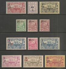 New Caledonia #124-135 FVF MINT - 1924-27 25c on 15c to 20fr on 5fr Surcharges