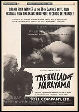 THE BALLAD OF NARAYAMA__Original 1983 Trade Print AD / poster__movie promo_Japan
