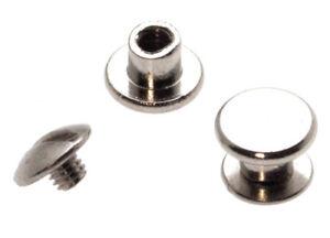 10 Stück Buchschrauben Chicagoschrauben 3,5mm Kopf 7mm Silbern Buchschraube