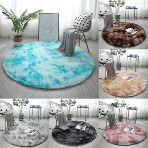 Round Faux Fur Sheepskin Rug Non Slip Large Floor Carpet Area Rugs Floor Mat
