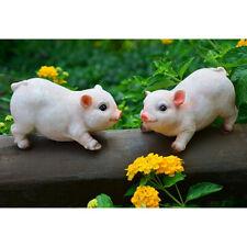 2pcs Resin Pig Model Statue Figurine Home Garden Yard Lawn Decor Gift Toys