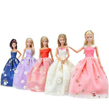 5 Pcs Handmade Doll Clothes Party Dresses Wedding Grows For Barbie Dolls A