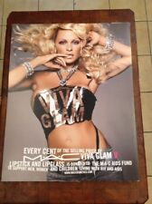 Mac Cosmetic Pamela Anderson Viva Glam V 22x28 Advertising Sign