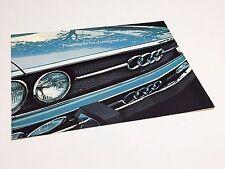1972 1973 Audi 100 LS 100 GL Brochure
