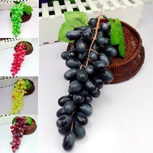 1xPlastic Uva Artificiale Frutta Realistici Cucina Finto Frutta Decorazione Casa