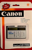 Canon Flash Card LS-701H Vintage Solar Calculator - Old Stock, NEW Sealed