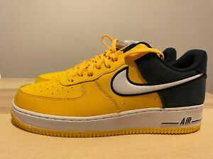NEW Nike Air Force 1 LV8 AF1 AO2439-700 Yellow Blue Black White Shoes Size 12