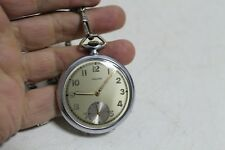 Antique Vintage Old Swiss Made Favor Army Mens Pocket Watch.