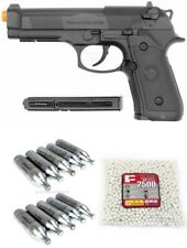 WG WinGun 302 Beretta M9 Style CO2 Gas Non-Blowback Airsoft Pistol Package Deal