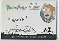 CRYPTOZOIC RICK AND MORTY SEASON 2 * AUTOGRAPH CARD * SPENCER GRAMMER * BOO-YA!