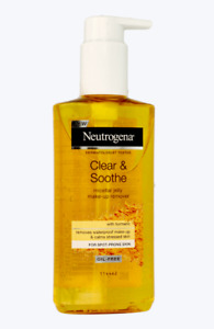 Neutrogena Clear & Soothe Turmeric Micellar Jelly Make Up Remover Oil Free 200ml