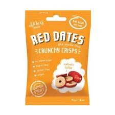 💚 6 x Abakus Foods naturel croustillant Chips Jujube fruit rouge dates 15 g