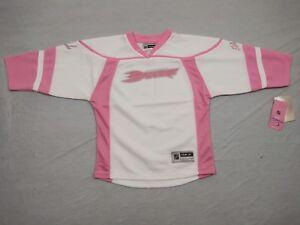 M152 New NWT REEBOK Anaheim Ducks Pink White Sparkle Jersey GIRLS Sizes