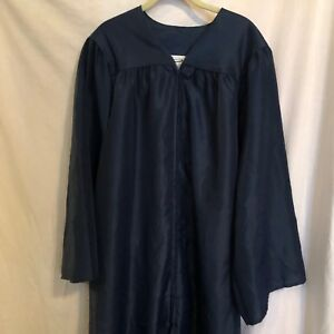 Jostens Navy Blue Graduation Gown Height 5'10 - 6'0  Excellent Used Condition