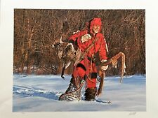 Paul Calle Snow Hunter Limited Edition Hand Signed Numbered 698/950