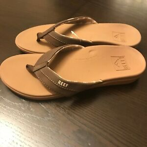 Reef Ortho Bounce Coast Flip Flop (Women's Sandals) in Coffee Brown Rubber - NEW