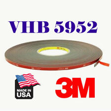 "3M 1/2""In x 15'Ft VHB #5952 Double Sided Foam Adhesive Tape Automotive Mounting"