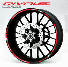 Agusta Rivale 800 wheel decals stickers set rim stripes Laminated red