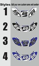 Number Plate Graphics for 2000-2001 Yamaha YZ125 250 YZ 125 250 Side Panel Decal