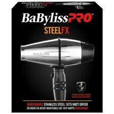 New Boxed BaByliss Pro Steel FX Stainless Steel 2000 Watt Hair Dryer