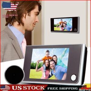"""3.5"""" Video Doorbell LCD Peephole Viewer Door Ring Intercom Camera Security Bell"""