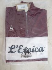LE COQ SPORTIF MEN'S L'EROICA CYCLING 100% WOOL LARGE SIZE JERSEY - RED