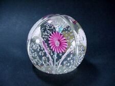 Fratelli Toso Murano Paperweight - Controlled Bubbles Trumpet Flowers, Special!