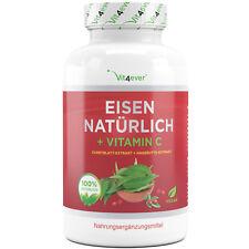 Natürliches Eisen aus Curryblatt 180 Kapseln 28 mg Eisen + 160 Vitamin C pro Tag