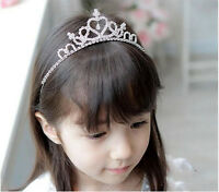 Glitter Rhinestone Princess Crown Tiara Headband Hair Band for Child Kid Girls
