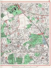 MUSWELL HILL. New Southgate Fortis Green Hornsey Wood Green Bowes Park 1964 map