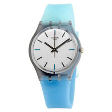 Swatch Sea-Pool Silver Dial Ladies Watch GM185