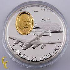 """1990 Canada Sterling Silver """"The Lancaster"""" $20 Dollars Commemorative w/ CoA Box"""