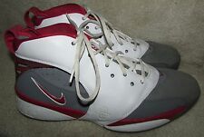 Nike Air Retro Huarache 64 White Red Grey Basketball Shoes 313386-012 Size 13