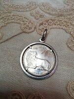 1AERRE ciondolo medaglia 900 segno zodiacale LEONE firmata GIAMPAOLI argento 925