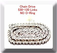 Chrome Plated 530-120 Link  (No O-ring) Chain Motorcycle Harley Sportster Dyna