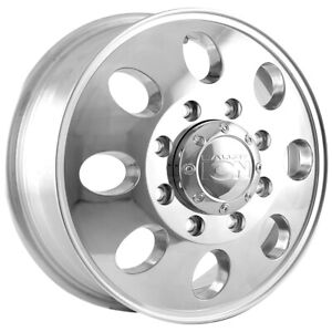 """Ion 167 Dually Front 17x6.5 8x6.5"""" +125.3mm Polished Wheel Rim 17"""" Inch"""