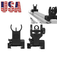 US Metal Fold BUIS Front&Rear Flip Up Rapid Transtion Picatinny Iron Sight Set