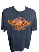Vintage Hog Wild Motorcycle Short Sleeve T Shirt Men's Size XL Black