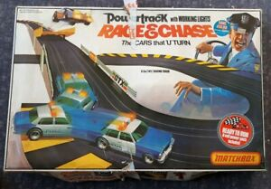 Race And Chase Pt 6000 Matchbox Powertrack Vintage 1980's Slot Car Racing System