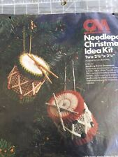 Sparkling Drums Christmas Ornament Plastic Canvas Needlepoint Kit Sealed