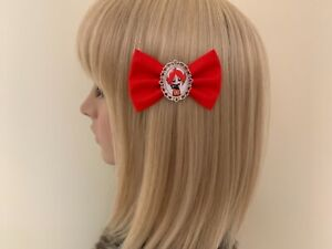 Ruby Gloom hair bow clip rockabilly pinup girl pin up gothic punk red black