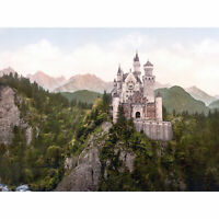 Neuschwanstein Castle Bavaria Photograph Royal Historic Large Canvas Art Print
