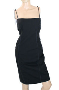 Sandro Ferrone Roma Women's Dress Black Stretch Size 44 Italy (US Medium)