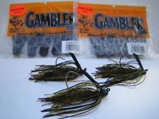 GAMBLER NINJA CLAW Trailers - Black Chartreuse Combo w/ 3 Custom Mustad EWG Jigs