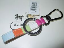 NWT Coach Leather Legacy Stripe Loop Lanyard Key Chain Fob Keychain Charm