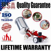 1.4mm HVLP Gravity Feed Air Spray Gun Sprayer Primer w/ Regulator Aluminum Cup