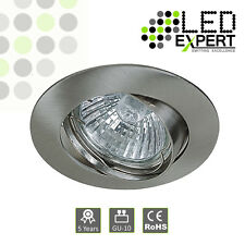 10 x White Quality Cast GU10 Downlight Tilting Ceiling Spotlight Recessed