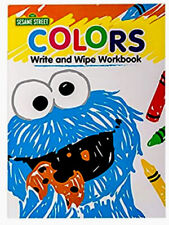 Sesame Street WRITE AND WIPE Workbook COLORS Activity, Educational, Learning-NEW